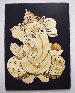 Handmade Lord Ganesha Art Straw Handicraft Made in Odisha Jirala  AJODI000909