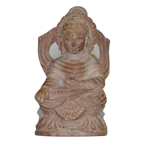 Handmade Lord Buddha Sitting Light Stone  Handicraft Carving of Odisha  AJODI000929