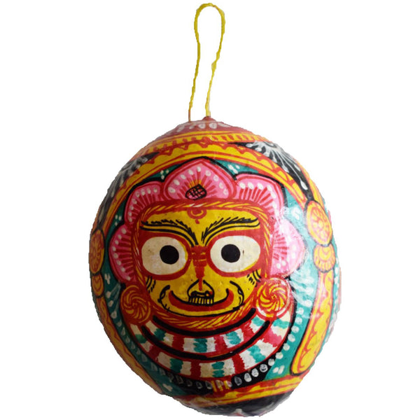 Handmade Lord Subhadra Handicraft Patachitra arts in Coconut Shell of Odisha  AJODI000936