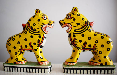 Handmade Lion Design Work Wooden Handicraft of Odisha  AJODI000939