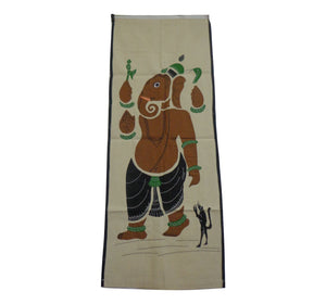 Handmade Lord Ganesh Design Handicraft Wall Hanging Applique Made in Odisha   AJODI001018