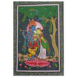Handmade Patachitra Painting of Lord Krishna with Radha Handicraft made in odisha Ragurajpur AJODI001071