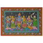 Handmade Patachitra Painting of Lord Krishna Rasaleela Handicraft made in odisha Raghurajpur AJODI001073