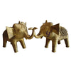 Handmade Brass Metal Dhokra Elephant Handicraft made in Odisha Dhenkanal   AJODI001089
