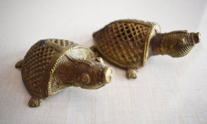 Handmade Brass Metal Turtle Design Indian Dhokra Handicraft made in Odisha Dhenkanal AJODI001102