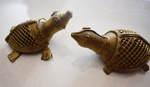 Handmade Brass Metal Turtle Indian Dhokra Handicraft made in Odisha Dhenkanal AJODI001106
