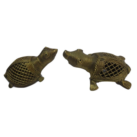 Handmade Brass Metal Turtle Indian Dhokra Handicraft Made in Odisha Dhenkanal AJODI001109