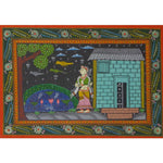 Handmade Village Scenery Handicraft Patachitra Painting of Odisha Raghurajpur AJODI001126