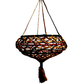 Odisha Handmade Handicraft Jute Hanger to decorate home or garden AJODI001128