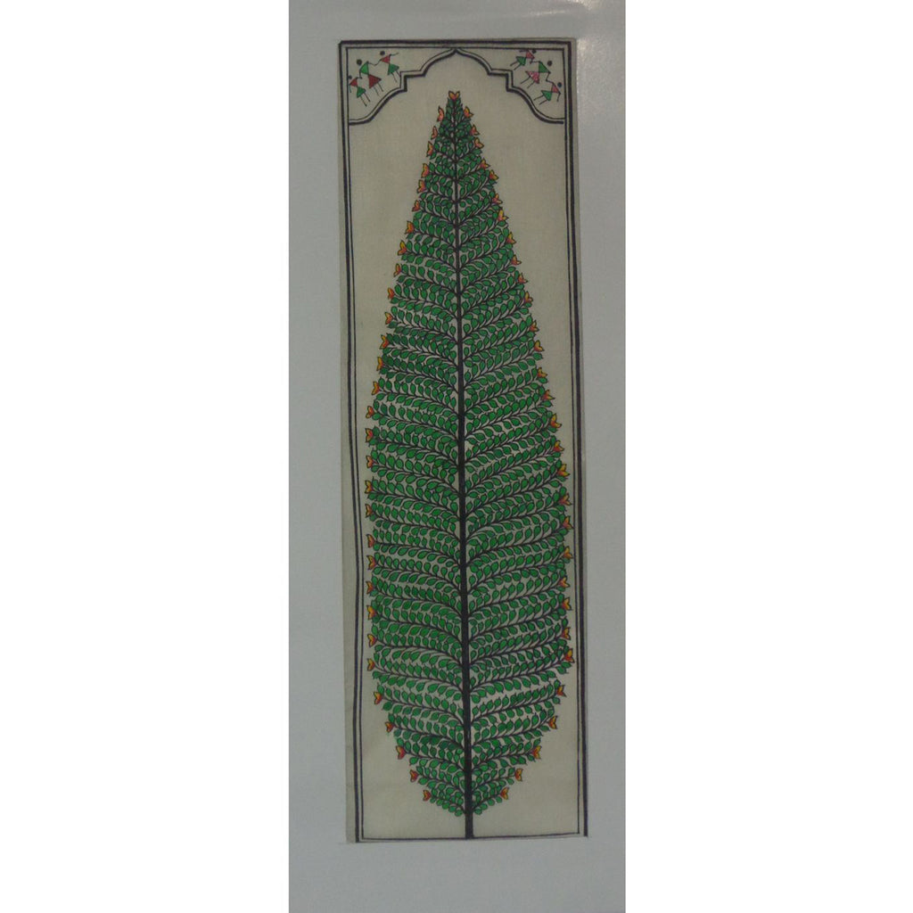 Tree Design Handmade Art Silk Handicraft Patachitra Painting of Odisha Raghurajpur  AJODI001129