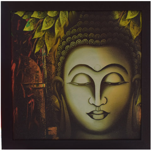 Handmade Framed Painting of Lord Budhha AJODI001237