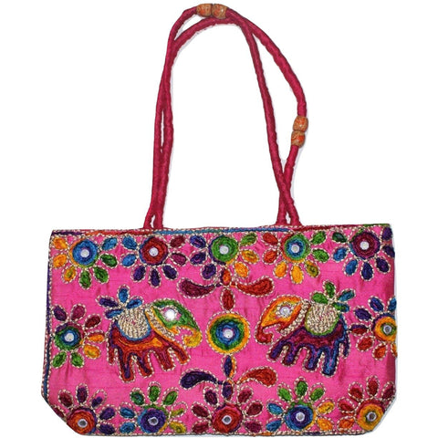 Pipili Handmade Bag Made Of Thread And Mirror Work AJODI001258