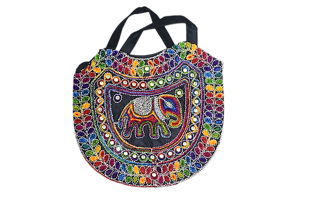 Rajasthani Handmade Bag Made Of Thread And Mirror Work AJODI001260