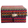 Multicolour Square Shape Bamboo Jewellery Gift Box AJODI001289