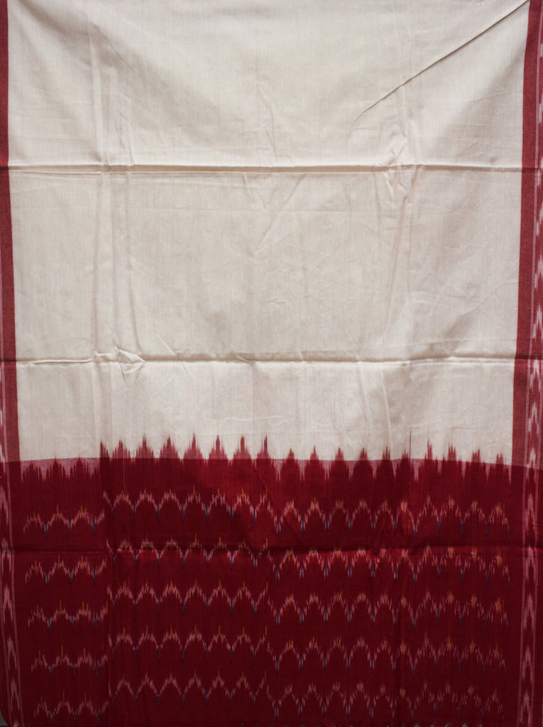 Red with White Handloom Pochampally Ladies Cotton Dress Material Telengana AJODI001317