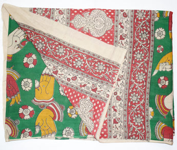 Woman's Kalamkari Multicoloured Cotton Dupatta of Andhra Pradesh AJODI001454