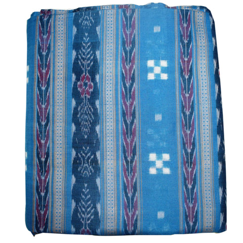 Multicolor With Sky Blue Small Pasapalli Running Material of Odisha AJODI001483