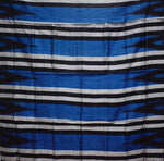 Kargil Design Warm Blue With Black Handloom Cotton Saree of Odisha, Nuapatana AJODI001556