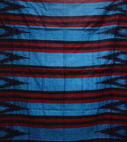 Kargil Design Metalic Blue With Black Handloom Cotton Saree of Odisha, Nuapatana AJODI001557