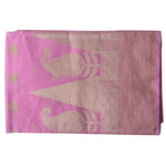 Lavender Pink With Golden Handloom Temple Design Banaras cotton Silk Saree of Uttar Pradesh AJODI001580