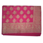 Magenta With Golden Handloom Buti Design Banaras cotton Silk Saree of Uttar Pradesh AJODI001586
