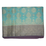 Olive Green With Golden Handloom Buti Design Banaras cotton Silk Saree of Uttar Pradesh AJODI001596