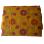Light Olive Yellow Handloom Net Design Banaras cotton Silk Saree of Uttar Pradesh AJODI001600