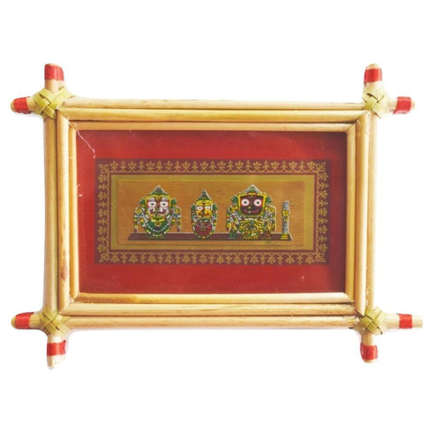 Patachitra Frame Painting Of Lord. Jagannath Pipili, Odisha AJODI001681
