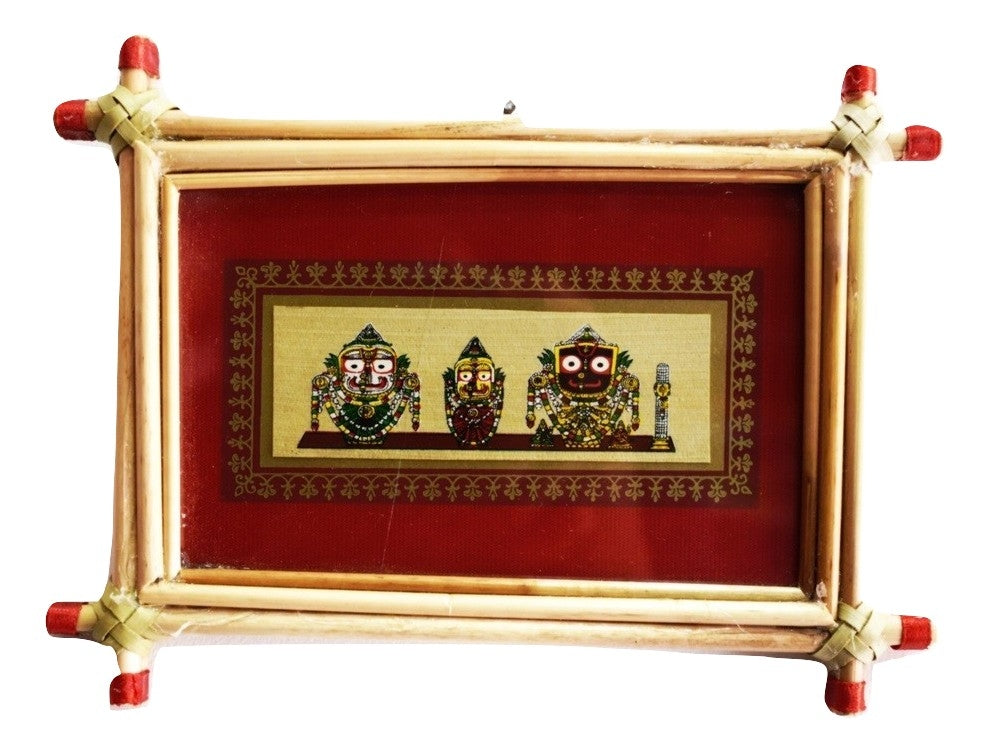 Patachitra Frame Painting Of Lord. Jagannath Pipili, Odisha AJODI001682