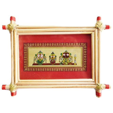 Patachitra Frame Painting Of Lord Jagannath Pipili, Odisha AJODI001684