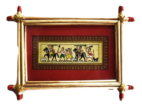 Patachitra Frame Painting Of Village Life Pipili, Odisha AJODI001687