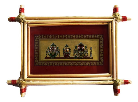 Patachitra Frame Painting Of Lord. Jagannath Pipili, Odisha AJODI001689