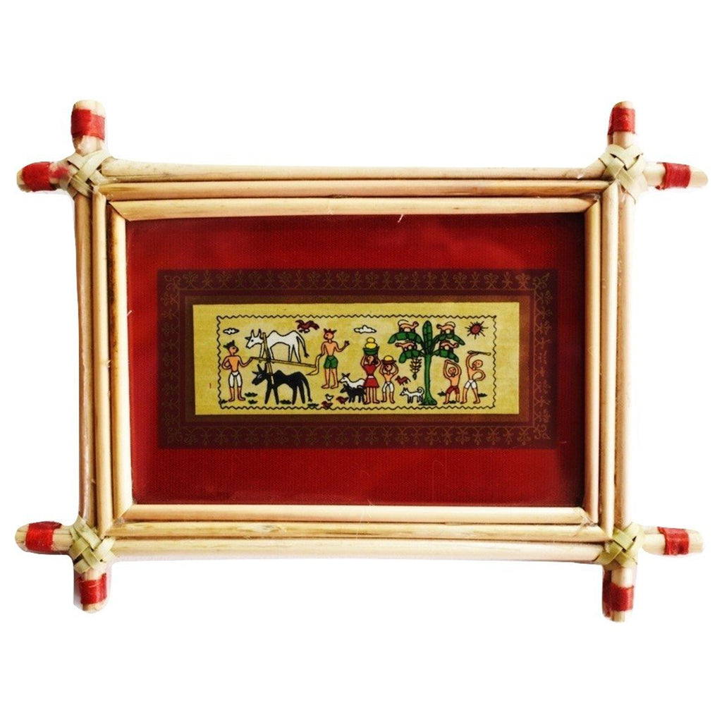 Patachitra Frame Painting Of Village Life Pipili, Odisha AJODI001690