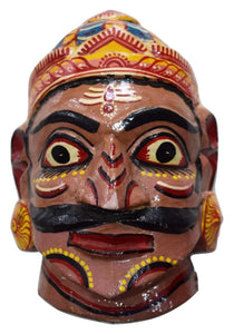 Handmade Wooden Demon Head Handicraft Art of Odisha Ragurajpur AJODI001703