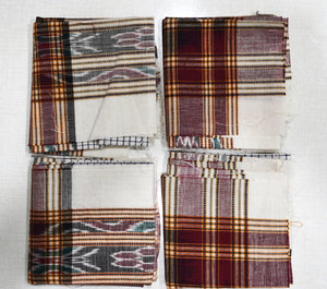 Handloom Cotton Handkerchief of Odisha, Sambalpur AJODI001706 (set-4)