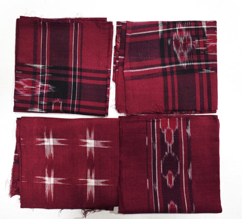 Handloom Cotton Handkerchief of Odisha, Sambalpur AJODI001707 (set-4)