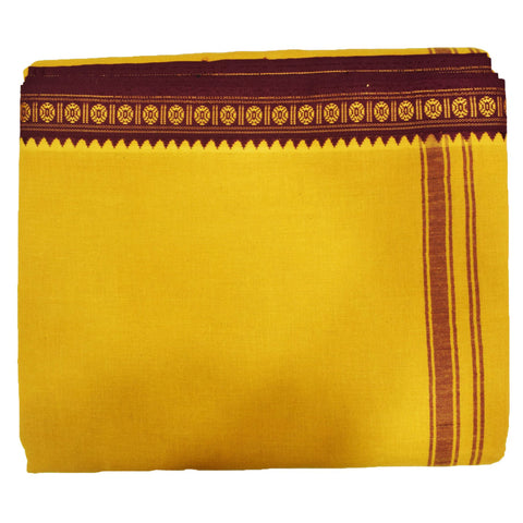 Deep Brown Color Of Handloom Cotton Joda Of Sambalpur, Odisha AJODI001734