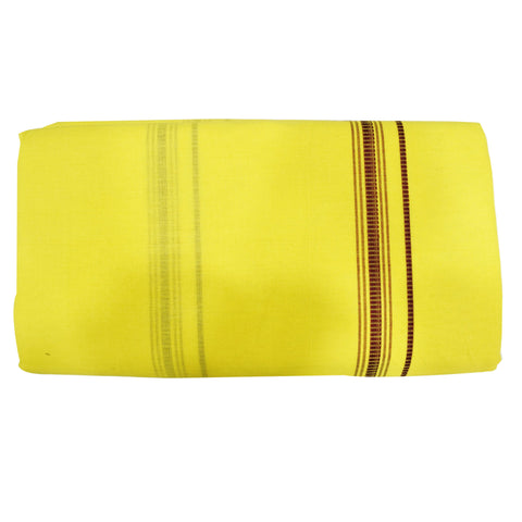 Light Yellow Color Combination Of Handloom Cotton Joda Of Sambalpur, Odisha AJODI001754