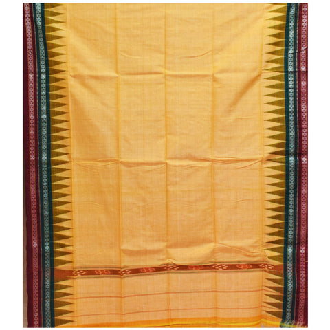 Multi Color Combination Of Handloom Temple Design Towel Of Sambalpur, Odisha AJODI001758