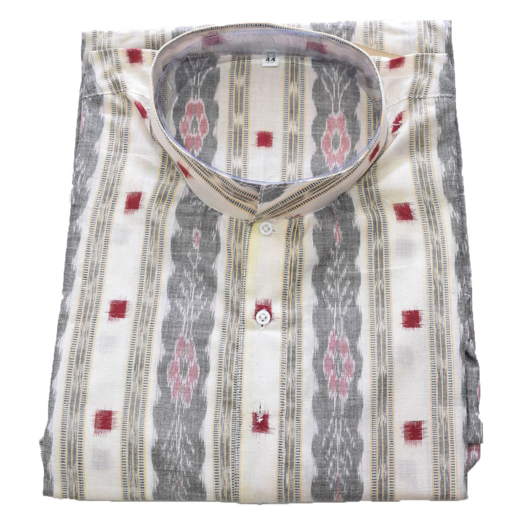 Multicolour Handloom Sambalpuri Handloom cotton Kurta for Men made in Odisha Sambalpur AJODI001779