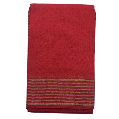 Handloom Red Colour Banarasi Cotton silk Saree AJODI001830