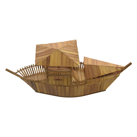 Handicraft Big Boat Bamboo Made From Dhenkanal Odisha AJODI001899