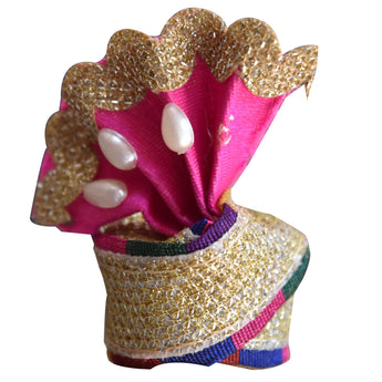 Handmade Small Mukut for Lord Krishna Bal Gopal AJODI001919
