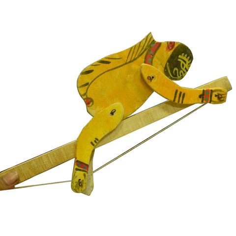Handmade Odisha Monkey Design Wooden Kid's Toy AJODI001938