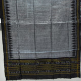 Black With Grey Handloom Cotton Ladies Dress Material of Nuapatna Odisha AJODI001953