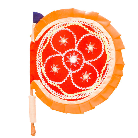 Odisha pipili handicraft Applique Hand Fan with Mirror Work AJODI001972