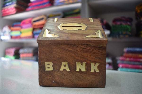 Wooden Handicraft Piggy Bank From Saharanpur Uttar Pradesh