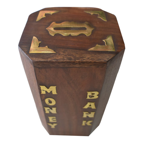Handmade Wooden Piggy Bank for Children from Saharanpur Uttar Pradesh AJODI001979
