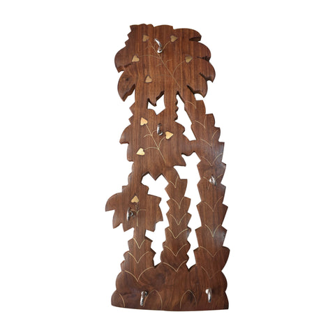 Tree Design Wooden Wall Hanging Key Holder Handicraft From Saharanpur Uttar Pradesh AJODI001984