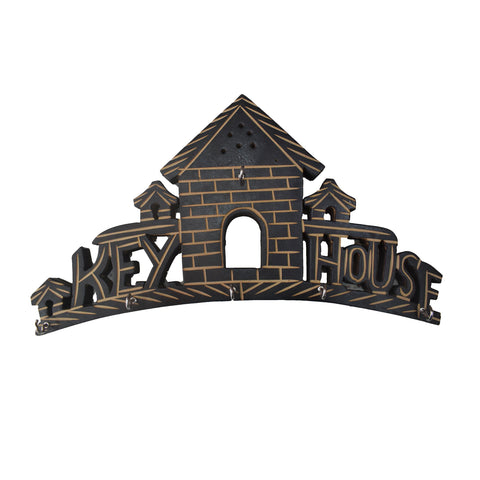 House Design Wooden Key Holder Handicraft from Saharanpur Uttar Pradesh AJODI001986